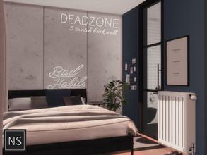 Sims 4 — Networksims - Dead Zone Walls by networksims — Large concrete wall panels in 5 greyscale colour swatches.