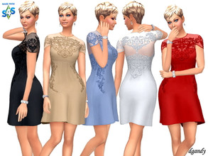 Sims 4 — Dress 202006_20 by Dgandy — Base game item Outfits: Formal Party 5 colors