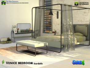 Sims 4 — kardofe_Venice bedroom by kardofe — Set with ten new meshes to recreate a modern style bedroom