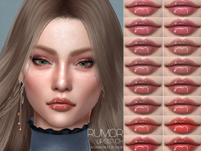 Sims 4 — LMCS Rumor Lipstick (HQ) by Lisaminicatsims — -New Mesh -16 swatches -All Skin