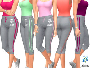 Sims 4 — Sweatpants_202006_20 by Dgandy — Base game item Bottoms: Everyday Athletic Sleepwear 5 colors