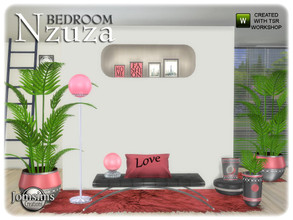 Sims 4 — Nzuza bedroom 1.2 by jomsims — Nzuza bedroom 1.2 part 2 for the Nzuza bedroom round vase2. alone leaf for vase 2