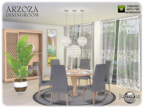Sims 4 — Arzoza diningroom by jomsims — Arzoza diningroom Arzoza diningroom for your Sims 4. A new spring spirit dining
