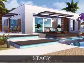 Sims 4 — Stacy by Rirann — Stacy is a contemporary house for a small sim family. Fully furnished and decorated. Includes: