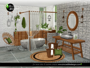 Sims 4 — Rustiko by SIMcredible! — Mixing classy and rustic styles, we brought this new bathroom for your sims. A clash