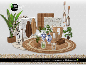 Sims 4 — Rustiko Decor by SIMcredible! — Still under the rustic + class combo, we brought this time 15 items to add
