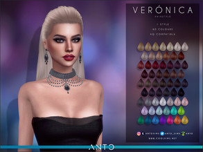 Sims 4 — Anto - Veronica (Hairstyle) by Anto — Long hair pulled back. Hope you like it!