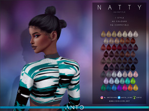 Sims 4 — Anto - Natty (Hairstyle) by Anto — 2-buns hairstyle Hope you like it!