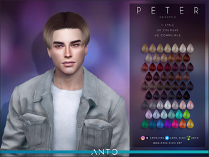 Sims 4 — Anto - Peter (Hairstyle) by Anto — Mid hair for sims. Hope you like it!