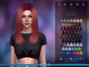 Sims 4 — Anto - Danna (Hairstyle) by Anto — Long bob for sims. Hope you like it!