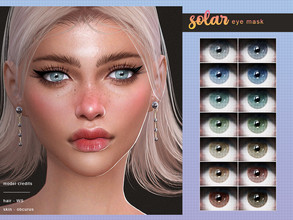 Sims 4 — [ Solar ] - Eye Mask by Screaming_Mustard — A new simple eye mask. For M/F, all ages. With custom thumbnails.