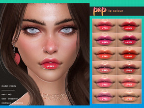 Sims 4 — [ Pop ] - Lip Colour by Screaming_Mustard — A super glossy pouting lip colour. With custom thumb nail.