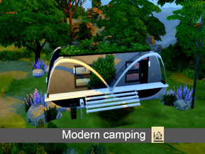 Sims 4 — Modern Camping |Tiny Living by GenkaiHaretsu — Hello! I present to you today very small modern camping for