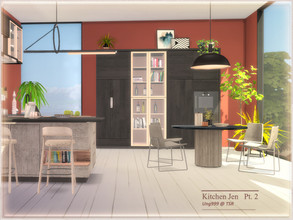 Sims 4 — Kitchen Jen  Part 2 by ung999 — Second part of Kitchen Jen (total has 3 parts), set includes the following 9