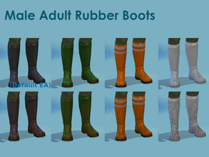 Sims 4 — Male Work Rubber Boots (Maxis Fisherman Boots Recolor) by Gorky7 — I really needed some proper rubber boots for