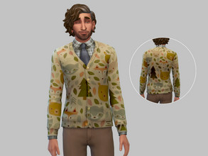 Sims 4 — Cottagecore Grandpa Sweater - Base Game by TulipSniper — Very cute grandpa sweater with a cottagecore animal