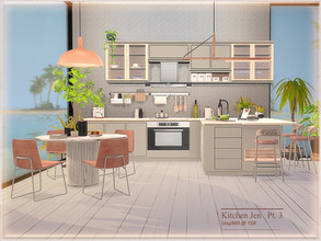 Sims 4 — Kitchen Jen  Part 3 by ung999 — The last part of Kitchen Jen, all are decor objects. Set includes the following