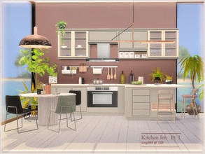Sims 4 — Kitchen Jen  Part 1 by ung999 — Kitchen Jen makes up of 3 parts, part one includes the following 9 items: