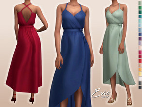 Sims 4 — Evie Dress by Sifix2 — - New mesh - 20 swatches - Base game compatible - HQ mod compatible - Teen - Young Adult