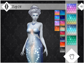 Sims 4 — Top 14 - EP07 Needed by AleNikSimmer — Recolor of the other Island Living mermaid female tops in my palette, the