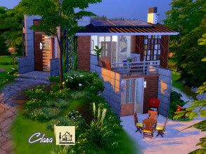 Sims 4 — Clara |eco by GenkaiHaretsu — I am presenting an ecological small house on two levels of the earth, two