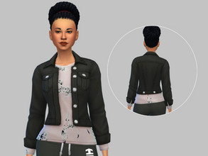 Sims 4 — Jacket W/ Pup Shirt - Tiny Living by TulipSniper — Cute jacket with puppy shirt.