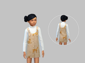 Sims 4 — Deer Dress - Eco Lifestyle by TulipSniper — Child deer dress