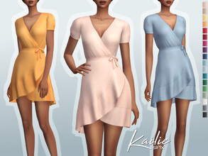 Sims 4 — Kailie Dress by Sifix2 — - New mesh - 18 swatches - Base game compatible - HQ mod compatible - Teen - Young