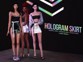 Sims 4 — Hologram Skirt by Alexa_Catt — Skirt From teen to elder 8 swatches HQ compatible Original mesh All LODs Normal,