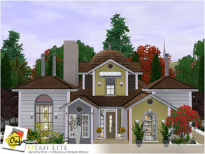 Sims 3 — Utah Lite by Onyxium — On the first floor: Living Room | Dining Room | Kitchen | Bathroom | Young Bedroom |