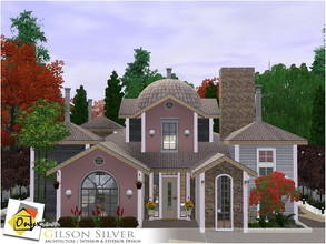 Sims 3 — Gilson Silver by Onyxium — On the first floor: Living Room | Dining Room | Kitchen | Bathroom | Young Bedroom |