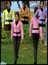 Sims 2 — Wool Jacket and Black Pants by RockinRobin — Your sims will be styling in these colorful outfits with wool