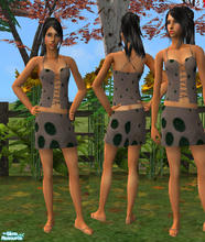 Sims 2 — Pebbles by RockinRobin — I had no idea this outfit would turn out looking like something from the Flintstones,