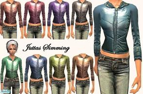 Sims 2 — shiny  jacket by juttaponath — shiny winter jacketsin 9 different colours for teens, adults/young adults, teens