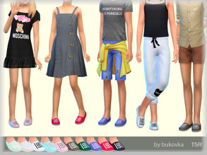 Sims 4 — Shoes Child by bukovka — Summer shoes for children of both sexes. Installed independently, suitable for the base