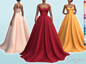Sims 4 — Clarissa Dress by Sifix2 — - New mesh - 17 swatches - Base game compatible - HQ mod compatible - Teen - Young