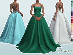 Sims 4 — Tanisha Dress by Sifix2 — - New mesh - 18 swatches - Base game compatible - HQ mod compatible - Teen - Young