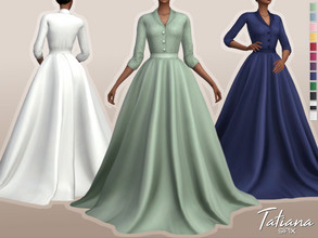 Sims 4 — Tatiana Dress by Sifix2 — - New mesh - 12 swatches - Base game compatible - HQ mod compatible - Teen - Young