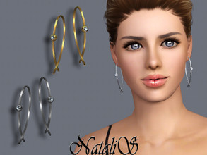 Sims 3 — NataliS TS3 Modern wire earrings with crystals by Natalis — Modern wire earrings with crystals. FT-FA-FE