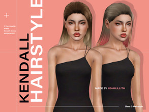 Sims 3 — LeahLillith Kendall Hairstyle by Leah_Lillith — Kendall Hairstyle All LODs Smooth bones Custom CAS thumbnail