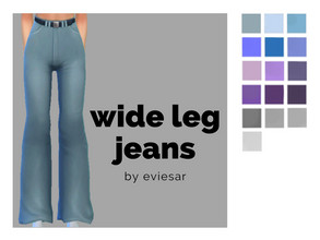 Sims 4 — Wide Leg Jeans by EvieSAR — - basegame - 16 swatches - custom thumbnails - all lods, all maps - not allowed to