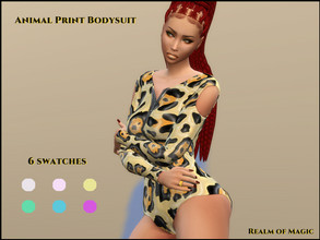 Sims 4 — Animal Print Top (LTCS) Realm of Magic by Ghiuri — Requires the Realm of Magic Pack. You can wear it either with