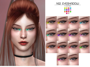 Sims 4 — LMCS Eyeshdow N12 by Lisaminicatsims — -New Mesh -14 swatches -All Skin