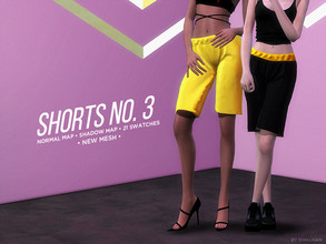 Sims 4 — Long shorts by Alexa_Catt — Shorts From teen to elder 21 swatches HQ compatible Original mesh All LODs Normal,
