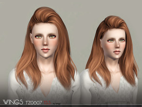 Sims 3 — WINGS HAIR TS3 TZ0607 F by wingssims — S4 conversion All LODs Smooth bone assignment hope you like it