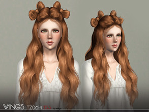 Sims 3 — WINGS HAIR TS3 TZ0614 F by wingssims — S4 conversion All LODs Smooth bone assignment hope you like it