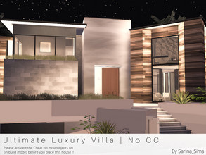Sims 4 — Ultimate Luxury Villa - No CC by Sarina_Sims — A very big and modern luxury villa in Del Sol Valley with 6