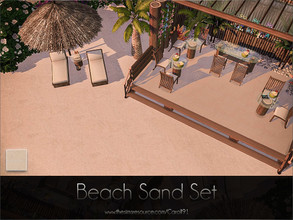 Sims 4 — Beach Sand Set  by Caroll912 — A set of a finer detail floor and larger detail terrain paint. Both creations are