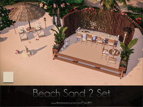 Sims 4 — Beach Sand 2 Set  by Caroll912 — A set of a finer detail floor and larger detail terrain paint. Both creations