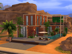 Sims 4 — Ruby Oasis Estate - No CC by ssigga — Located just like an oasis, this luxurious spot in the middle of the